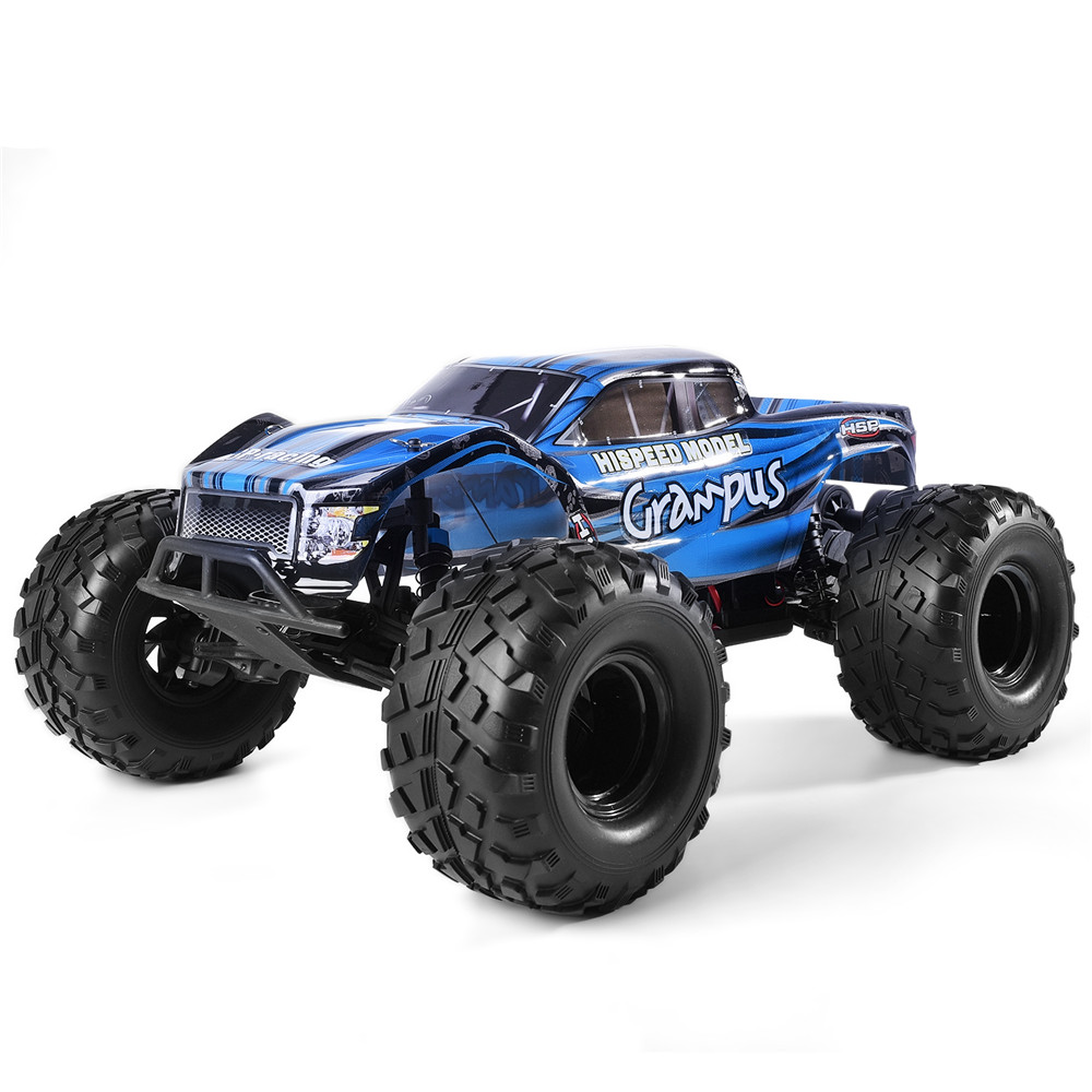 HSP Racing Crusher 94601 Pro 1/10 Brushless 2WD RC Monster Truck RTR